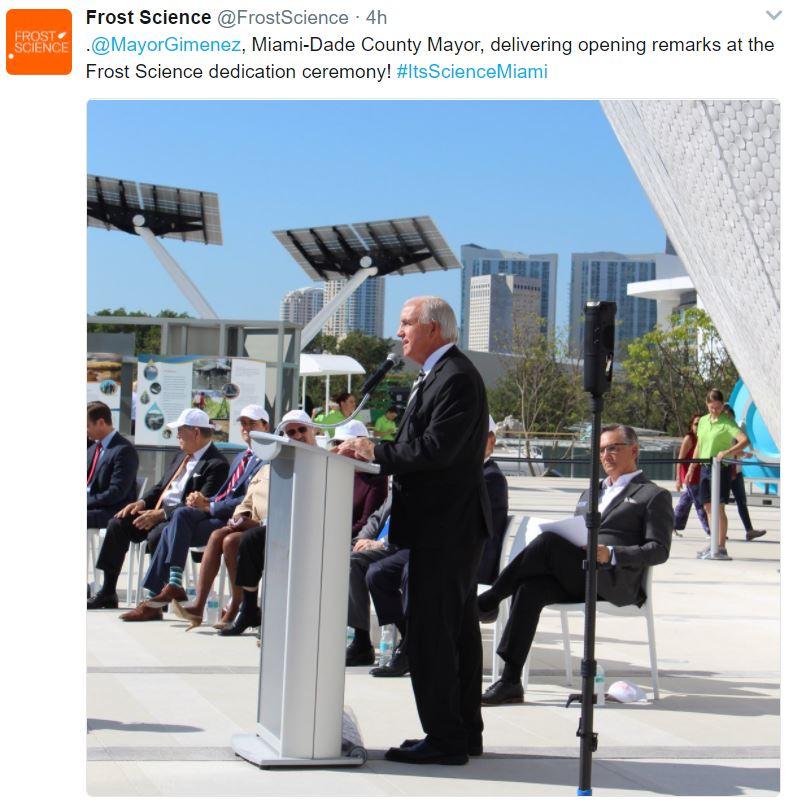 Mayor Gimenez Frost opening tweet.JPG