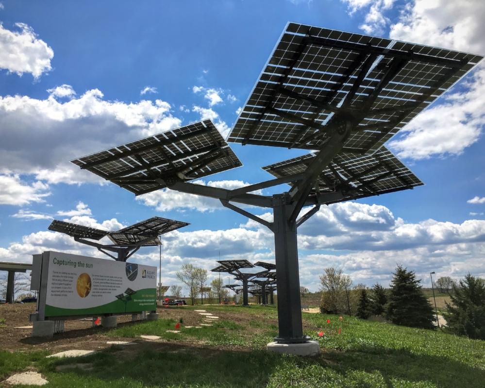 Alliant Energy Spotlight Solar tree Trestle