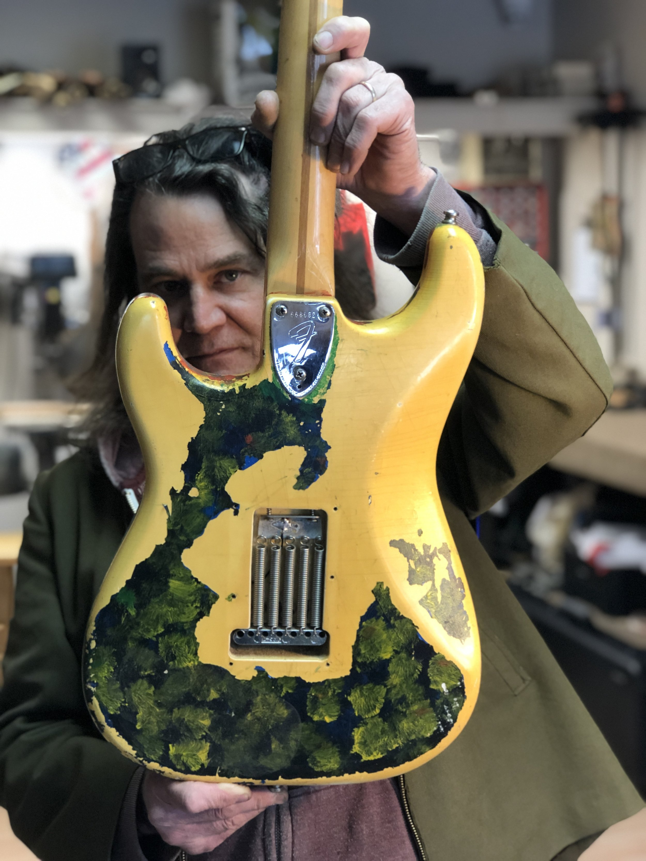 When Billy Corgan of Smashing Pumpkins got his stolen guitar back after 27 years, he took it to Chicago's guitar miracle worker Geoff Benge.