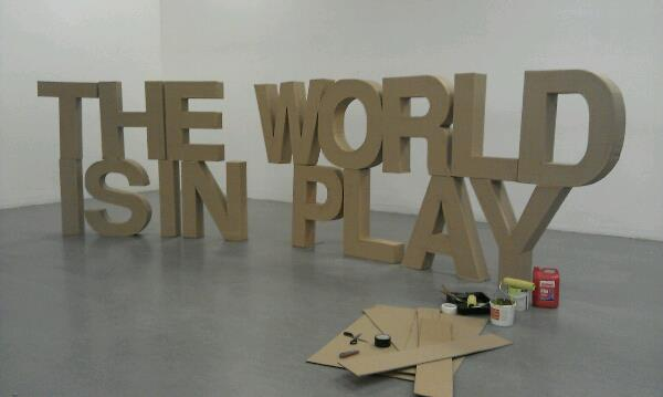 The World Is In Play 3D Sculpture