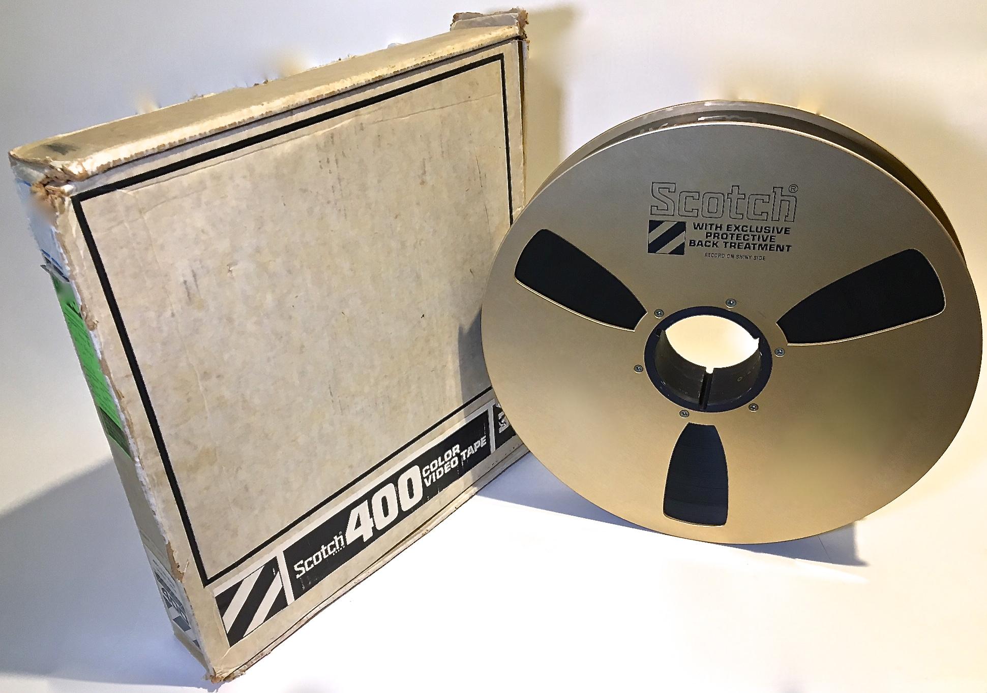 "90 minute 3M 400 2"" Quad Videotape with Cardboard Box"