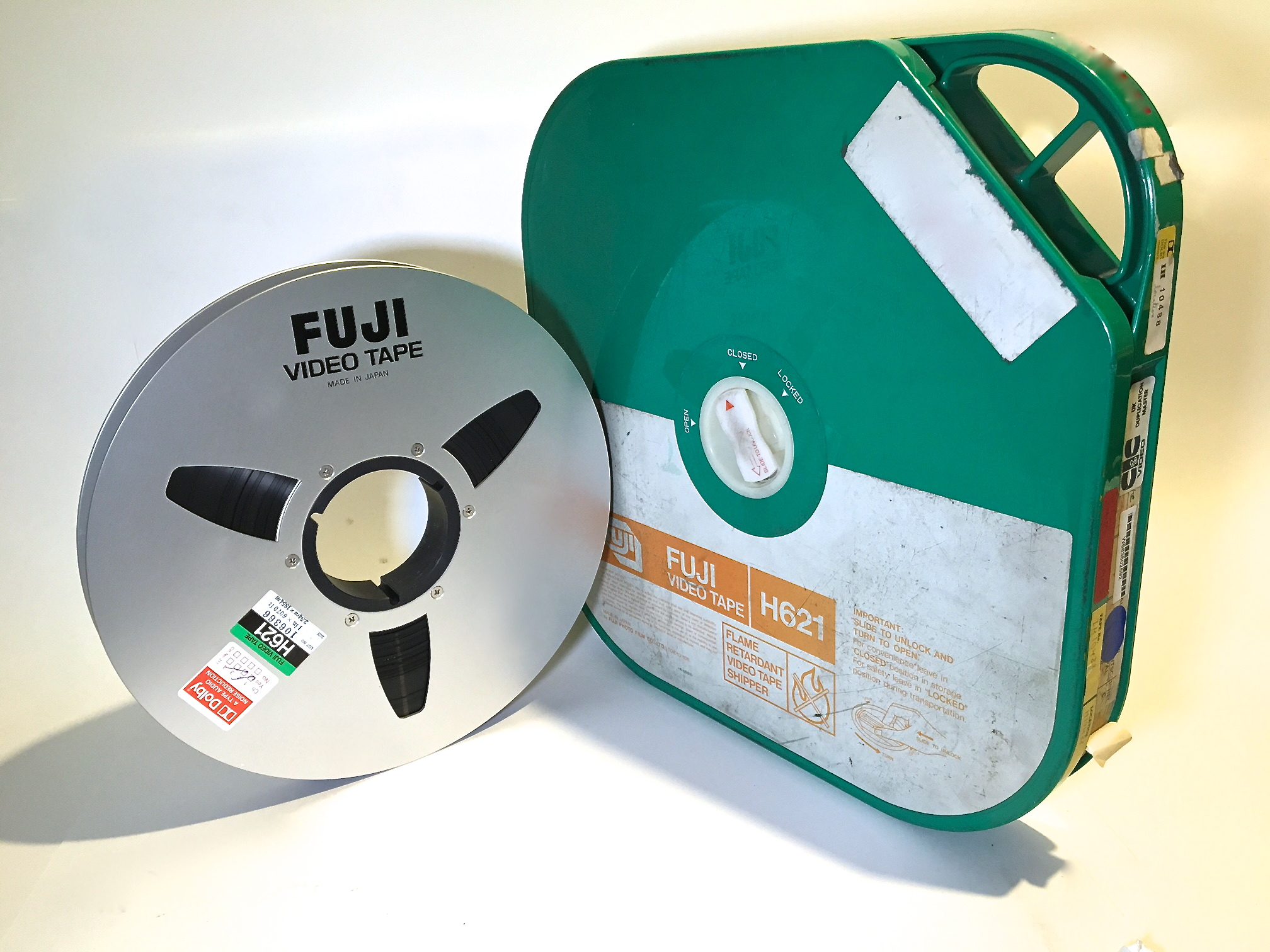 """Two Hour Reel of Fuji with Rigid Shipper containing 1"""" Videotape"""