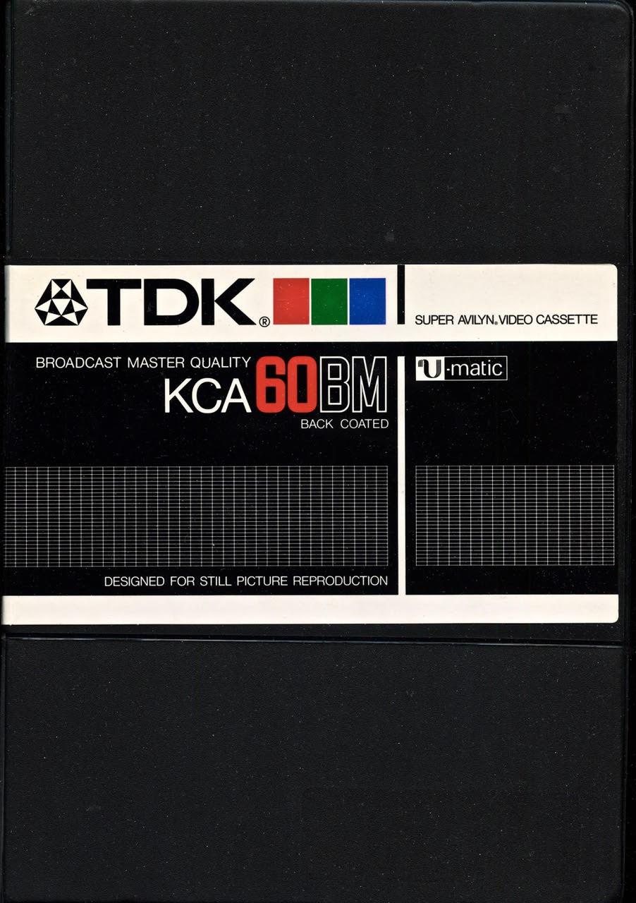 TDK KCA60BM Super Avilyn Video Cassette