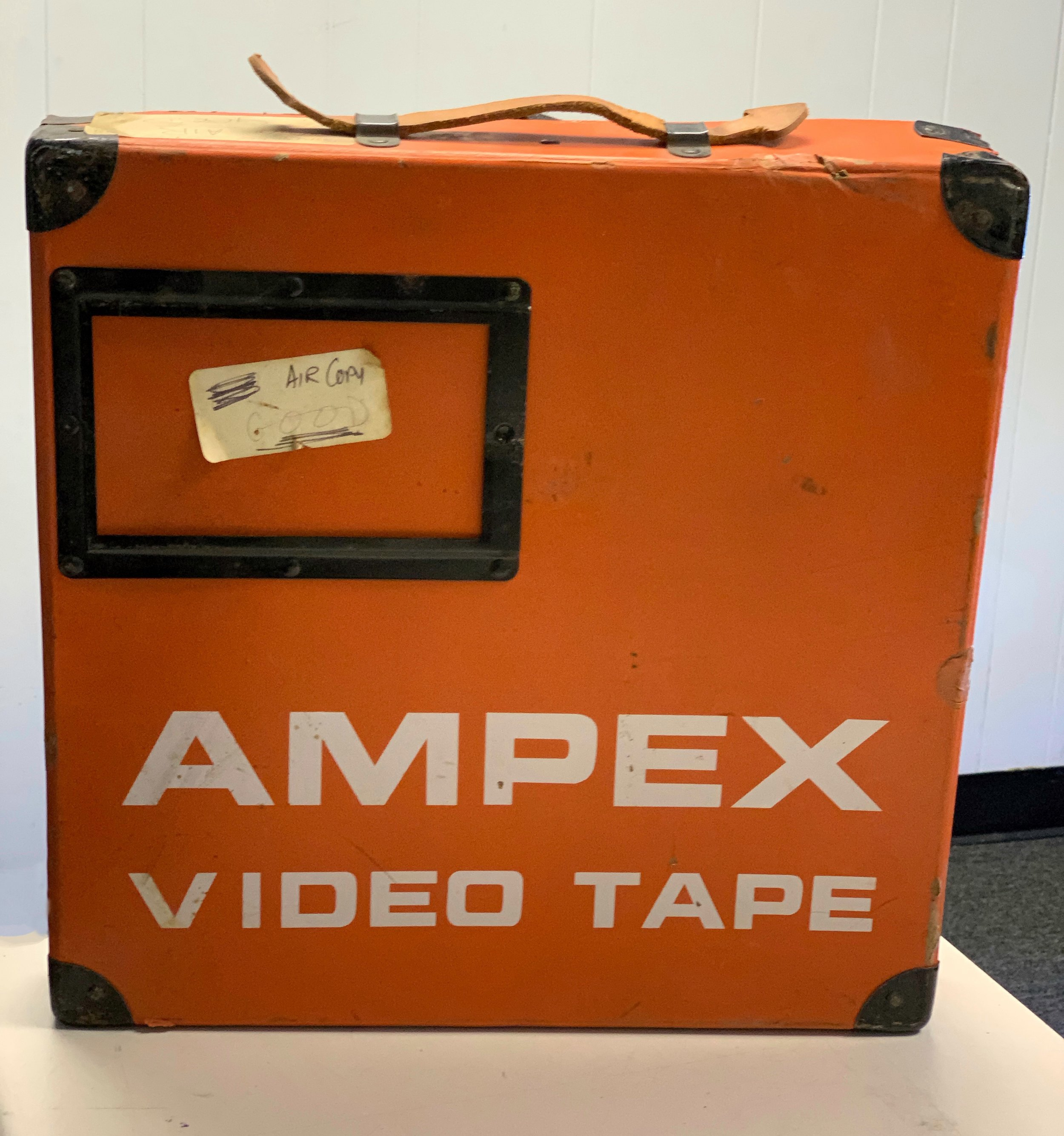 """2"""" Ampex Orange Fiberboard shipper"""