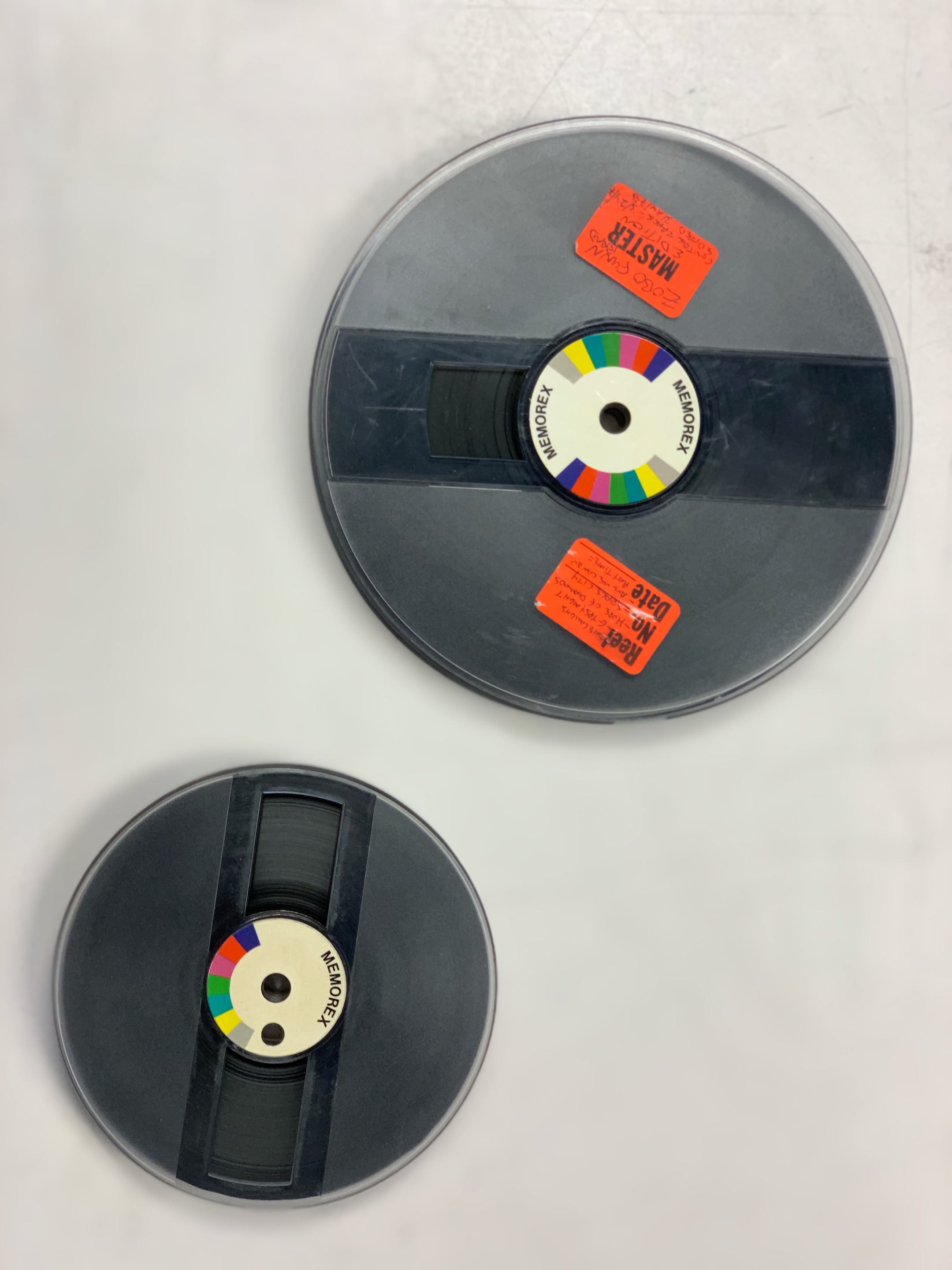 Memorex 5 inch and 7 inch reels