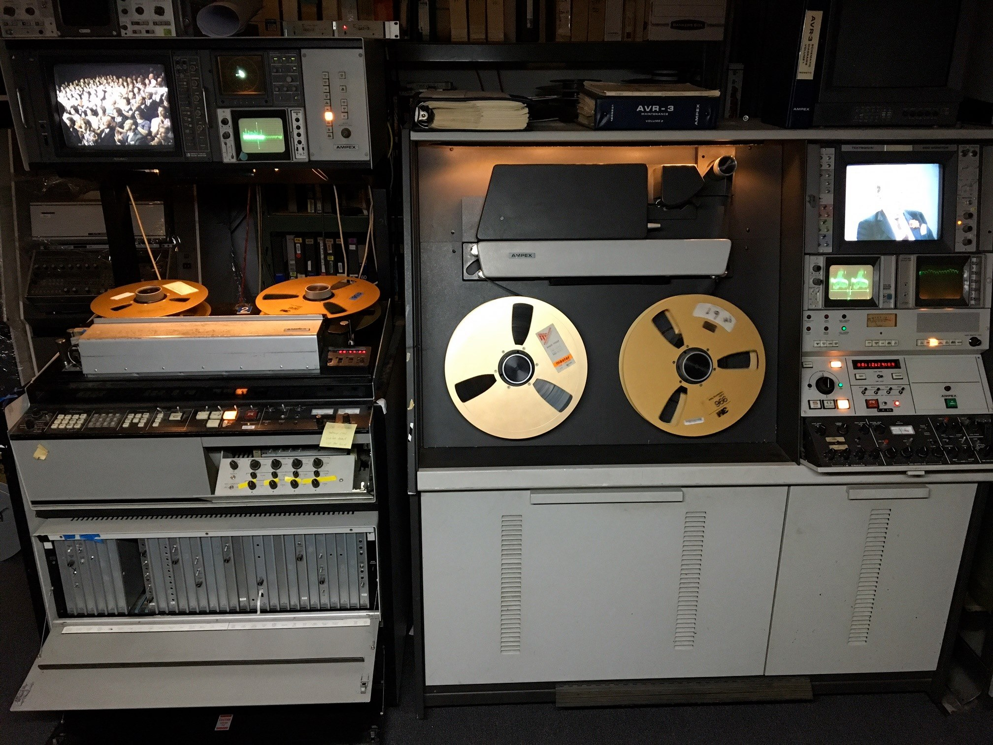 2 inch quad videotape recorders