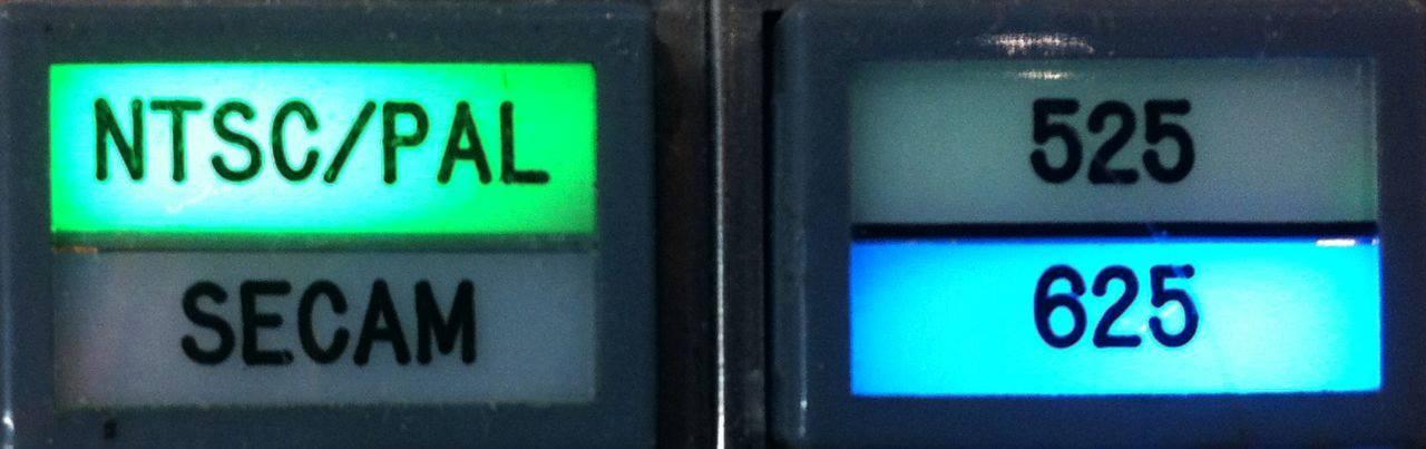 AVR-1 NTSC/PAL format buttons