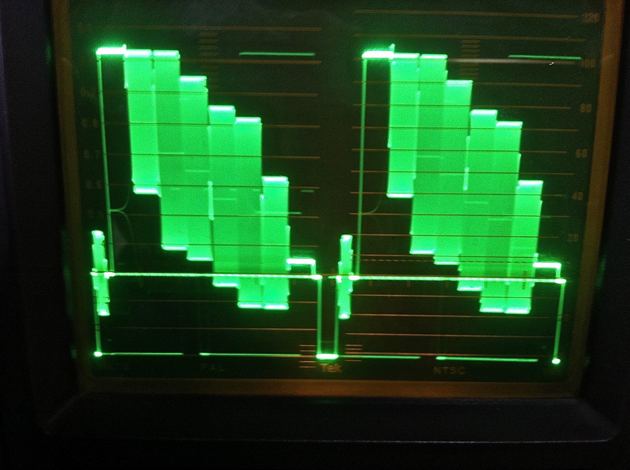 NTSC color bars waveform