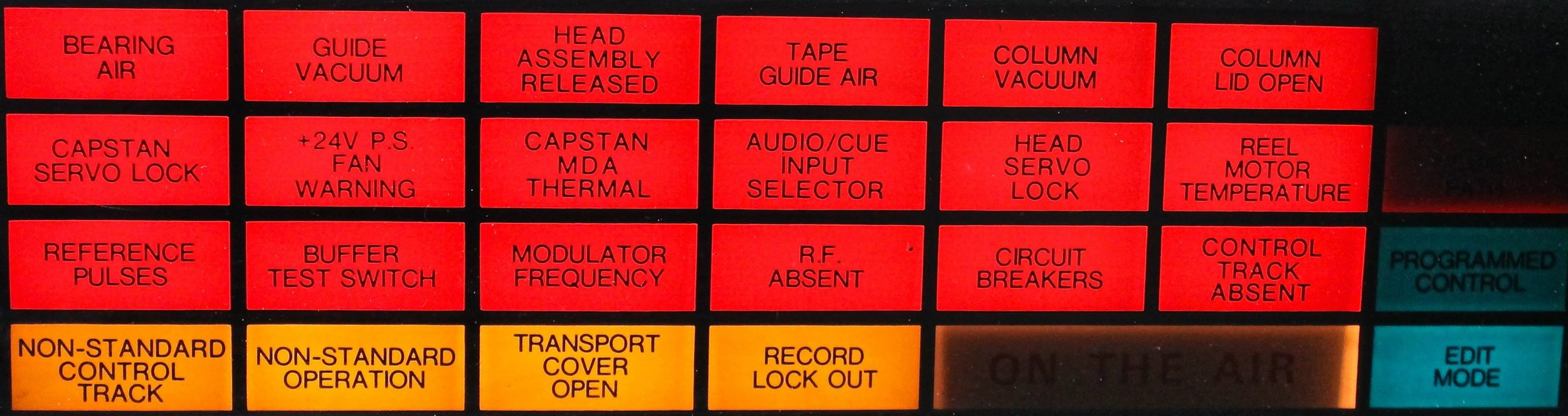 AVR-1 warning light panel