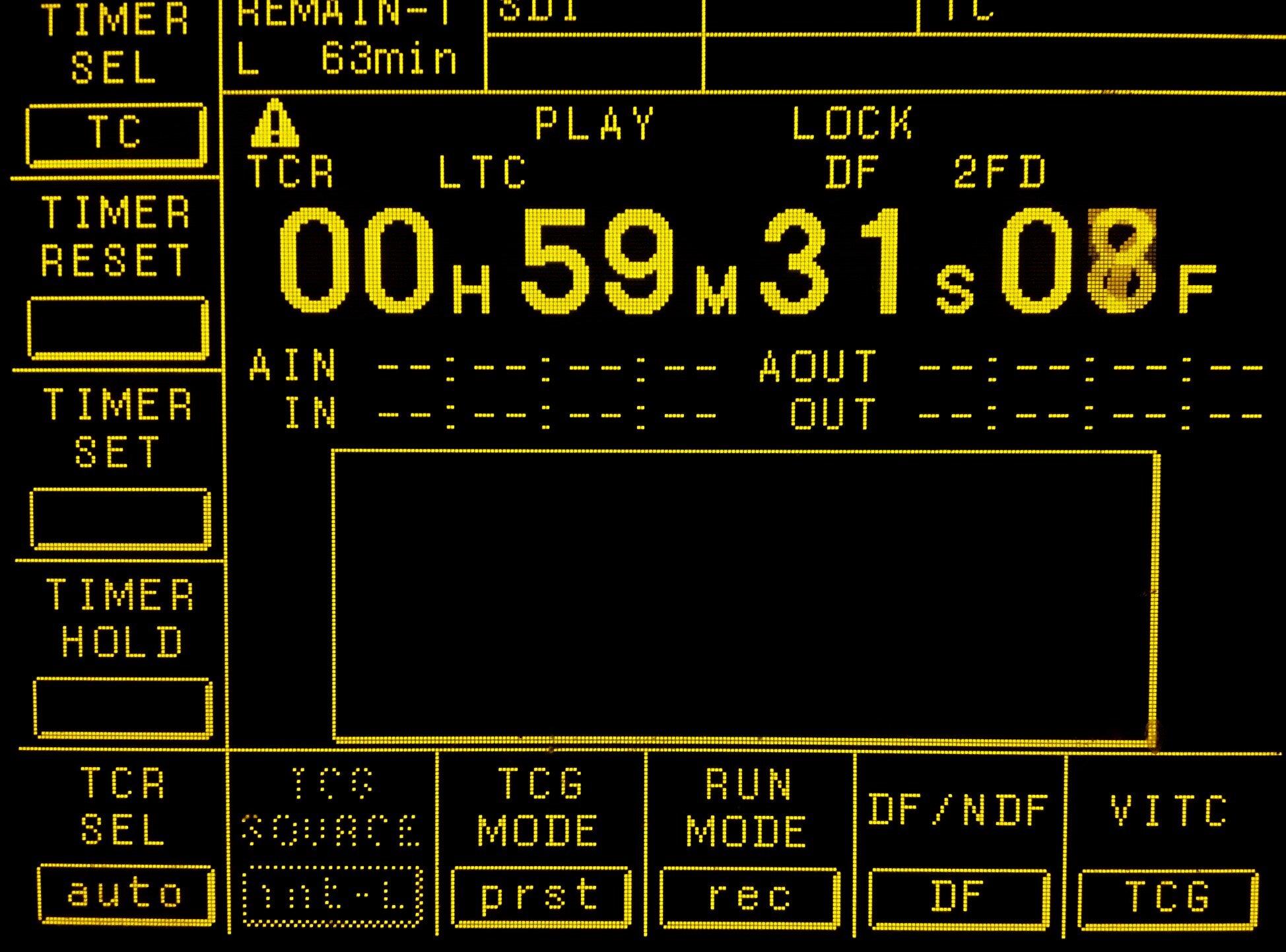 Sony HDCAM Display