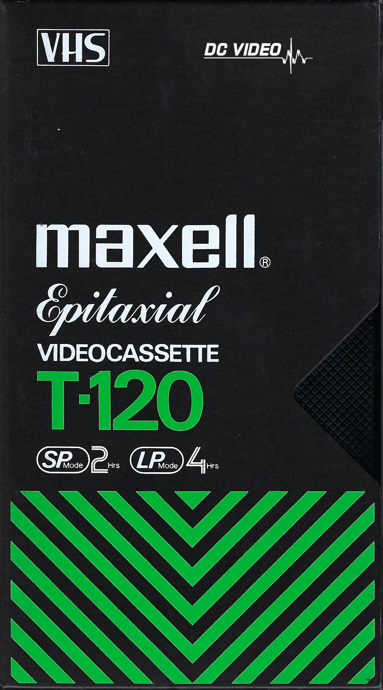 Maxell Epitaxial T120 VHS Green