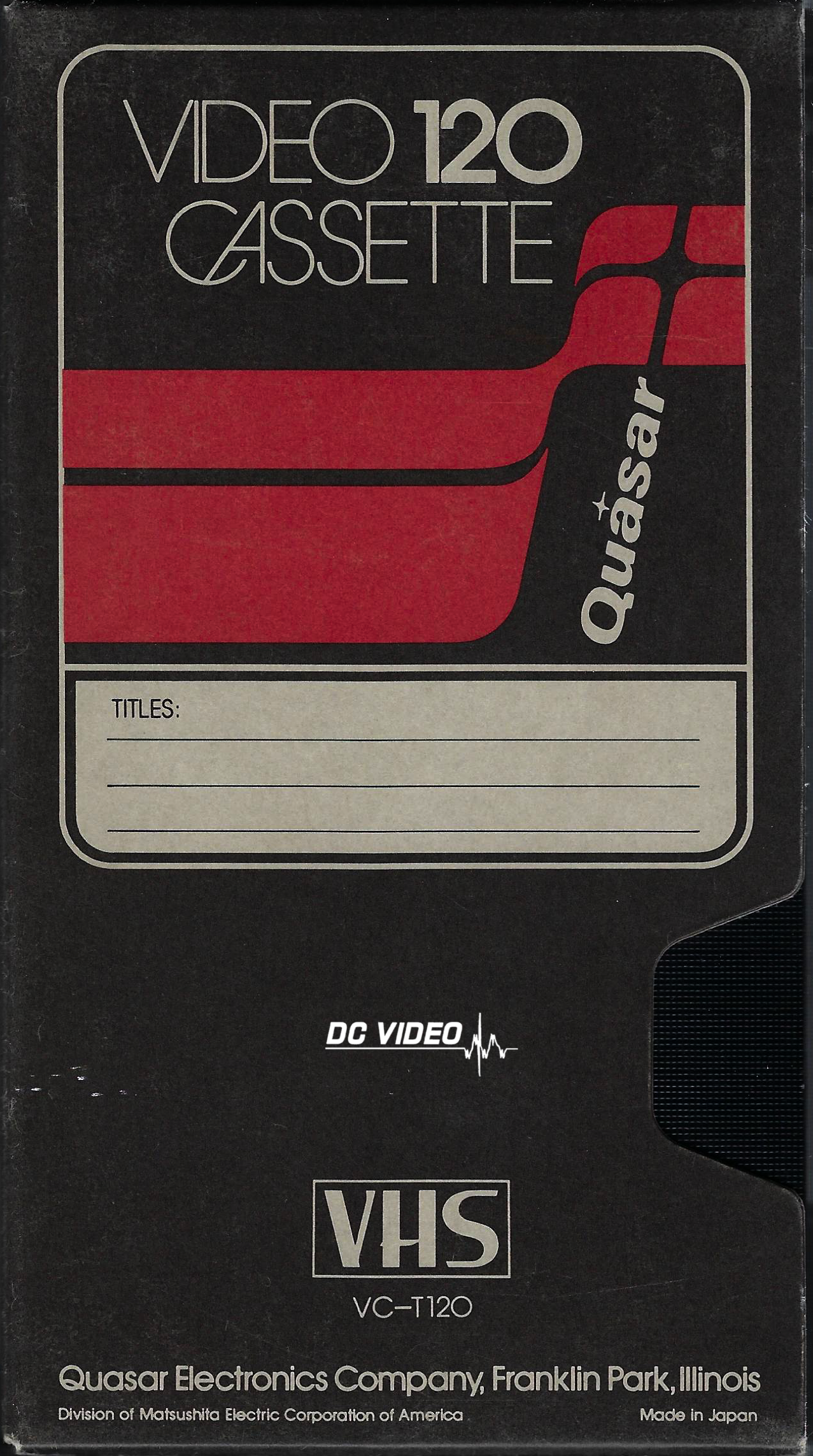 Quasar VHS T 120