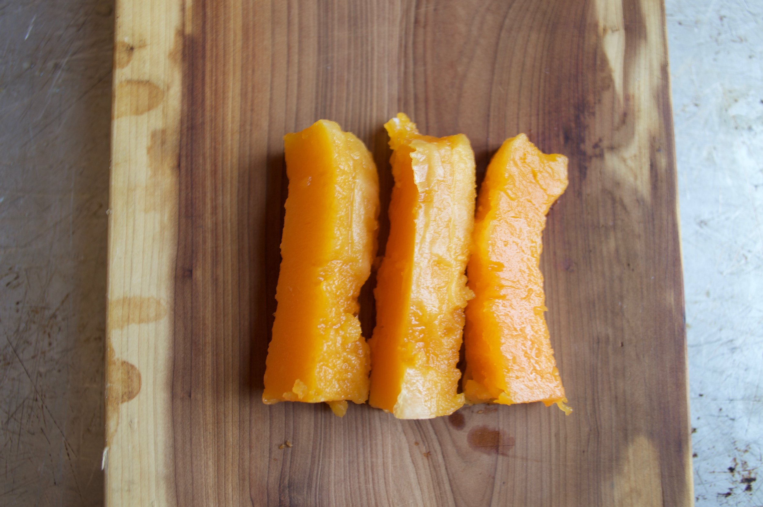 Butternut Squash - roasted with olive oil and cinnamon.