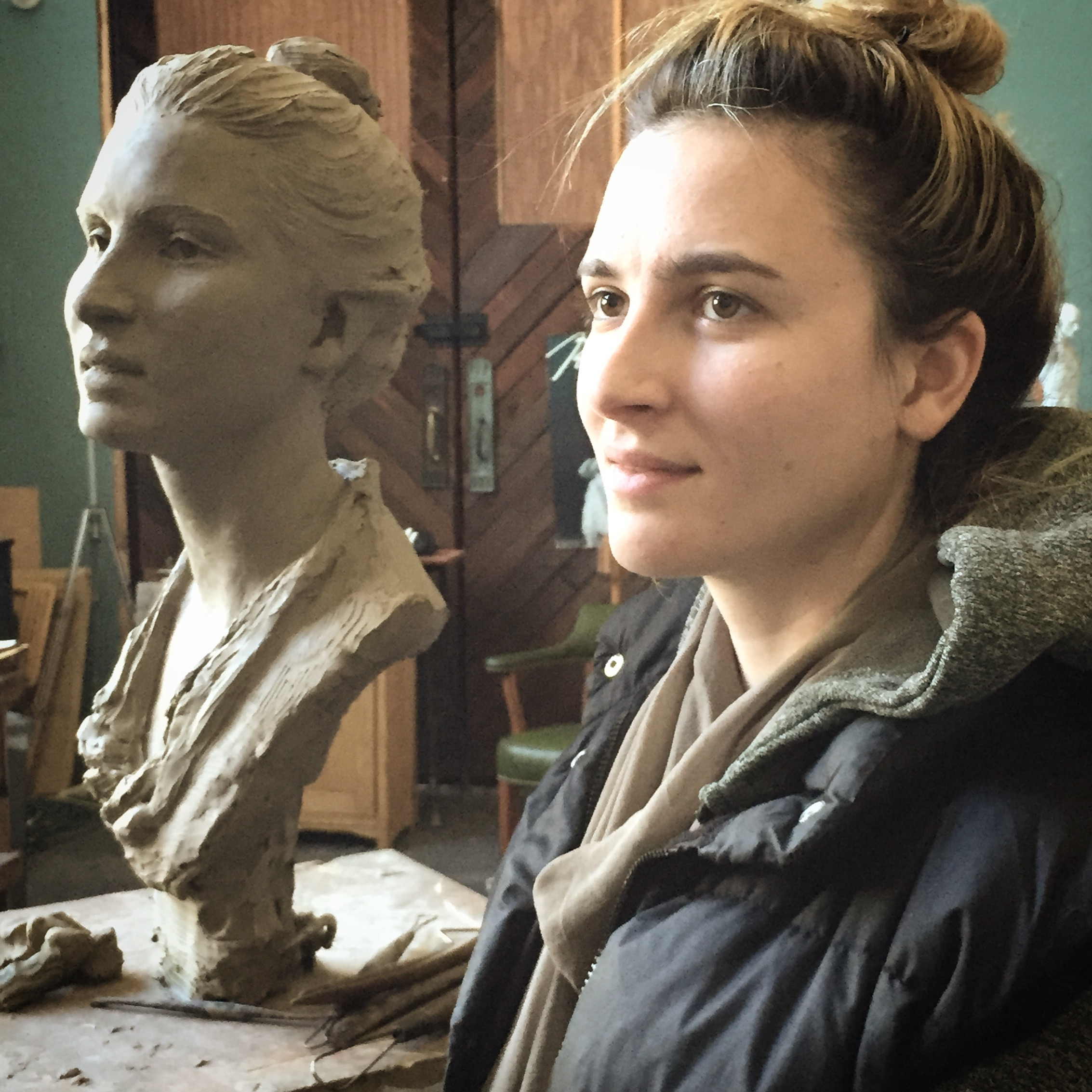 Cécile, clay in progress