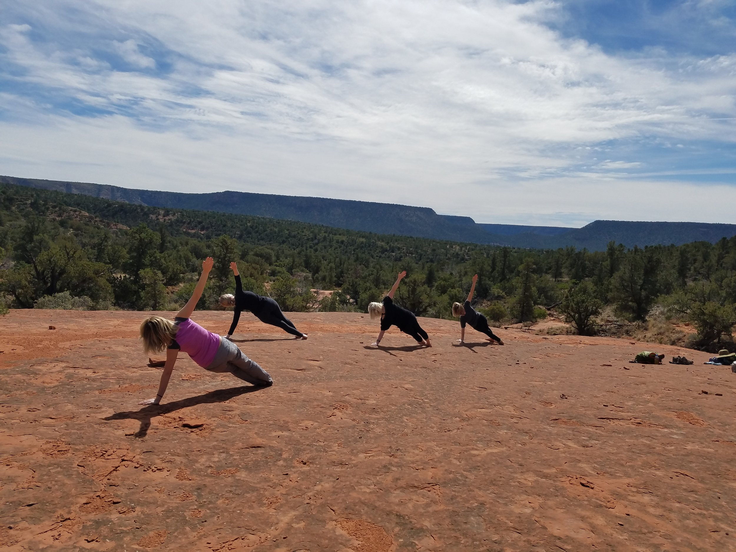 Yoga on Red Rocks.