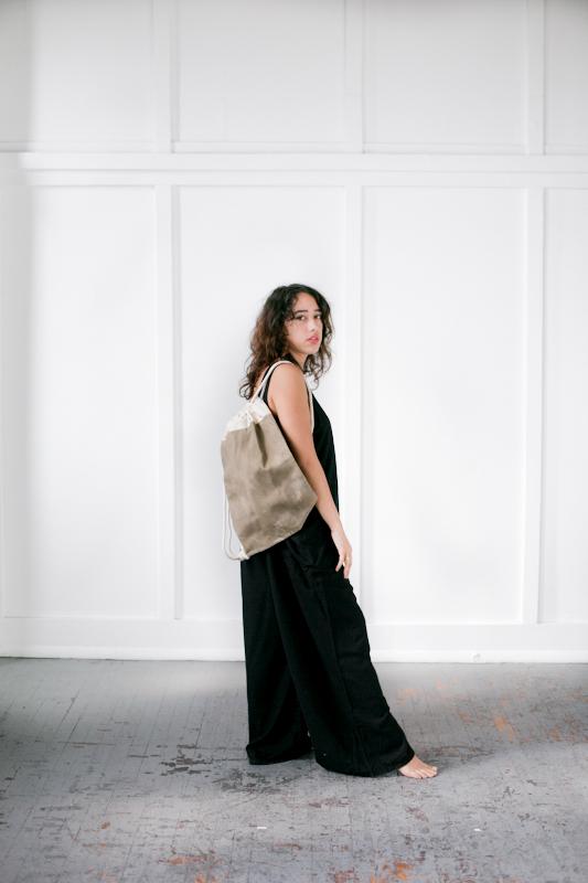 Study NY, Jumpsuit ItalicHomes, Canvas Drawstring Bag