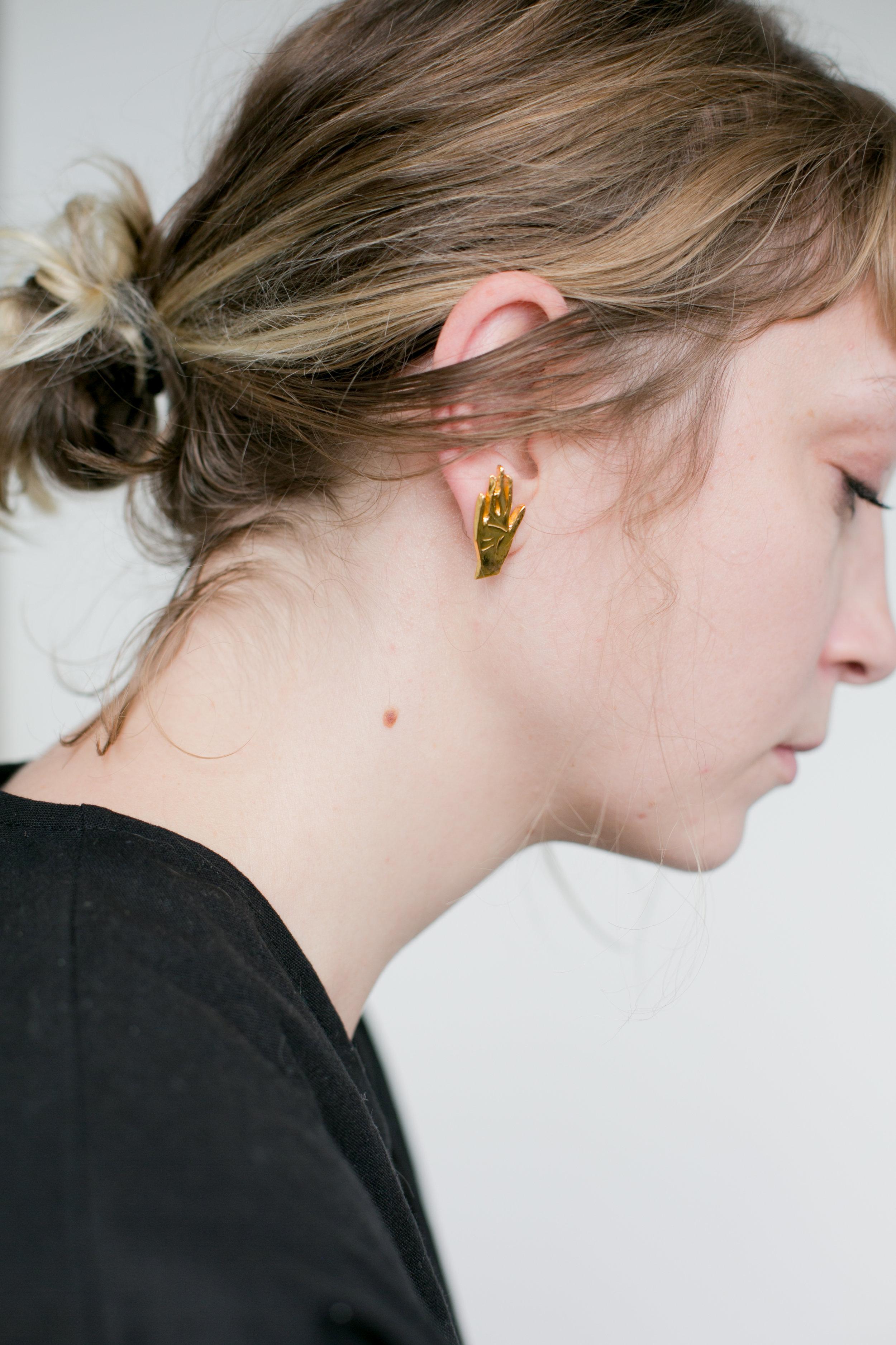 Lauren Winter Co, Jumpsuit / L'enchanteur, Palm of Hand Earings