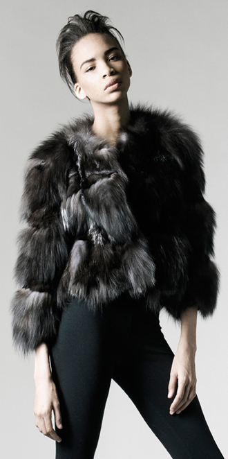 STYLE # T122192FX   silver fox section jacket