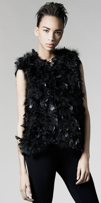 STYLE # T122211MB   turkey feather vest