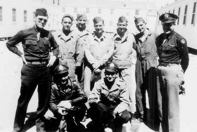 Hautman Crew Back row, L-R: Edward Hautman; Gordon Waldron; Dale Maupin; John Tarbert; Orvel Howe; Thomas Land; Maynard Jones Front row, L-R: John Friese, Carroll Snidow