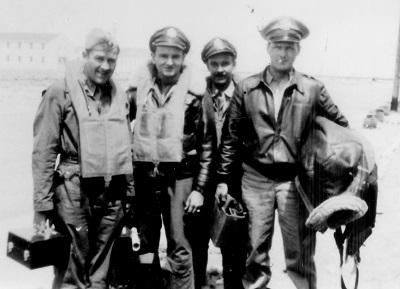 Officers of Hautman Crew L-R: Maynard Jones; Carroll Snidow; John Friese; Edward Hautman