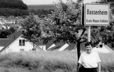 Kendra Jones Garrett at Bassenheim, Germany--2002 Mairzy Doats crashed about 2.5 KM southwest of this village.