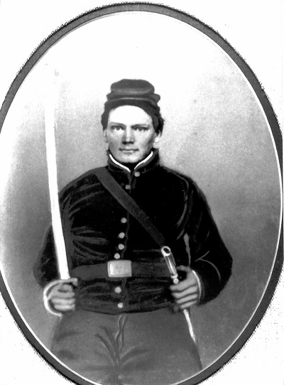 Charles Robert Garrett, date unknown Assumed to have been taken while in the cavalry regiment because of the sword. He would not have had a sword in an infantry unit.