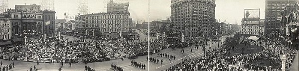 GAR Parade during the 1914 Encampment in Detroit, Michigan