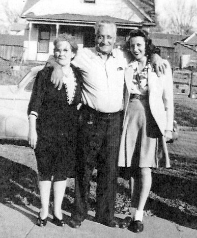 Edith L., Louis A. and Betty Lou Barkus Probably about 1943 or 1944