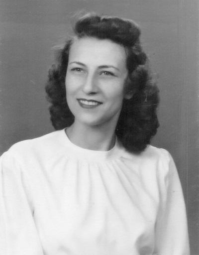 Betty Lou Barkus Engagement Photo, 1946