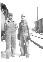 Undated photo, with William Kreie on the right Location is not known