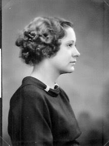 Marian Kreie Garrett Probably High School Graduation Photo, 1935