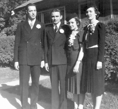 Left to right: George Kunz; Kenneth Garrett Marian Kreie Garrett; Nadine Garrett