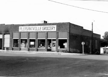 Site of Easter's Store, Pleasantville, Iowa Kenneth managed 1950-1954, Photo taken July 1989