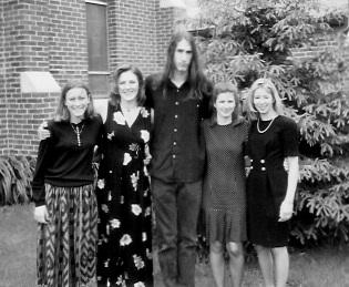 Cousins, left to right: Laurel Garrett; Megan Garrett Subeck; Evn Garrett; Kristine Garrett; and Karen Garrett Wiseman