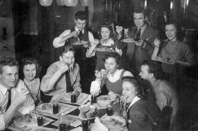 The Dummy Club, date and location unknown Maynard is seated 3d from the left