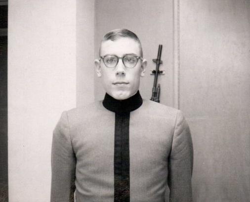 Craig in Dress Grey Uniform, Plebe Year, 1966