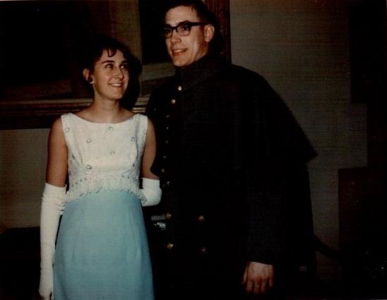 Kendra Jones and Craig, Spring Hop, USMA, 1966 Note especially Kendra's long gloves