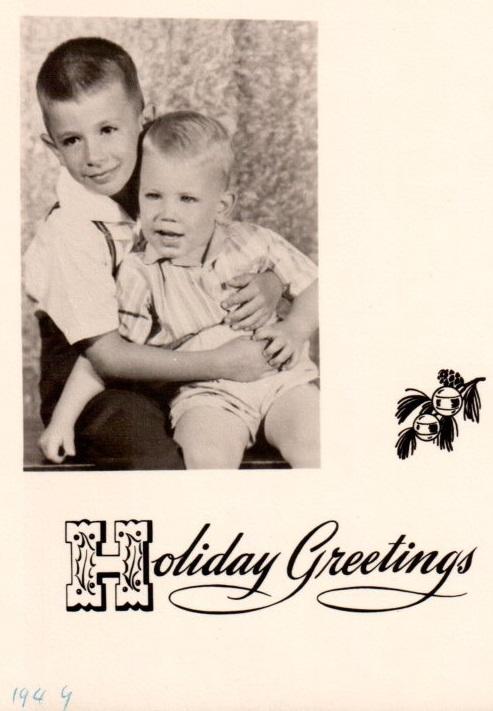 Christmas Card, taken August 1949