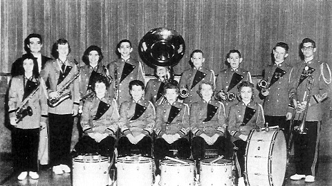 CHS Pep Band 1960, Music director Donald C. Bury I am standing to the right of the tuba and brother Kenneth standing to the left of the tuba. Kenny graduated in 1960. I would have been in the seventh grade at the time.
