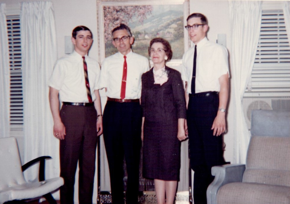 Garrett Family Picture, 1965 L-R: Brother Kenny, Father Kenneth, Mother Marian, and Craig