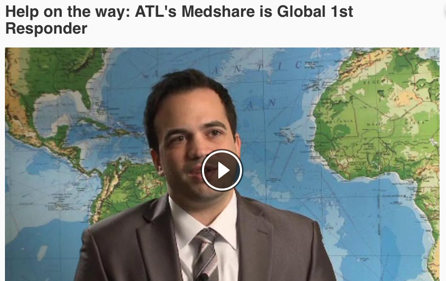 Watson J. Help on the Way: ATL's MedShare is Global 1st Responders. Atlanta Alive: 11 Alive News, NBC. Aired: 11/25/2015.