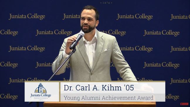Juniata College - Young Alumni Achievement Award, Recipient Speech. 6/2018.