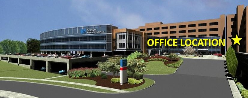 Our office is located less than a mile from Route 265 - Poplar Level exit at Norton Audubon Hospital. We are located in the 3rd floor of the East Tower professional suites. Free covered parking and a parking valet is available. Please call to make an appointment. New patient paperwork downloads are also available below.