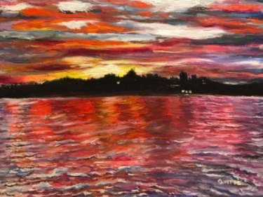 July at the Bay 12x9 oils Available $225