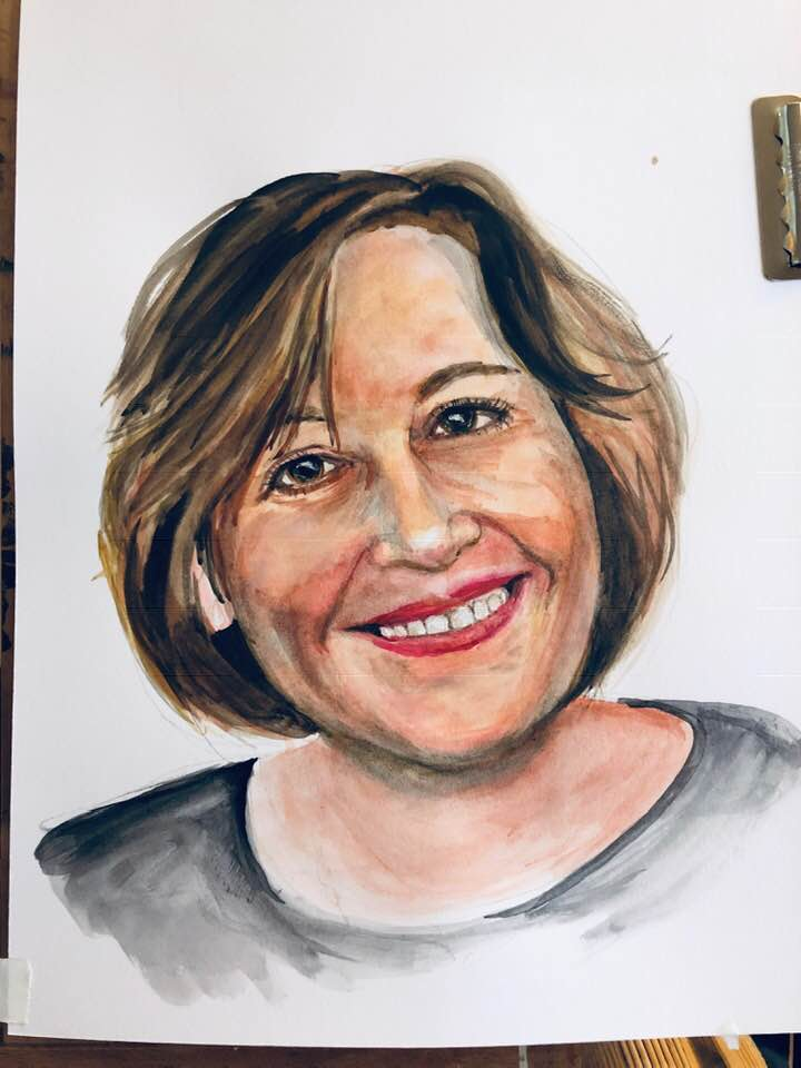 Cathie.  Watercolor