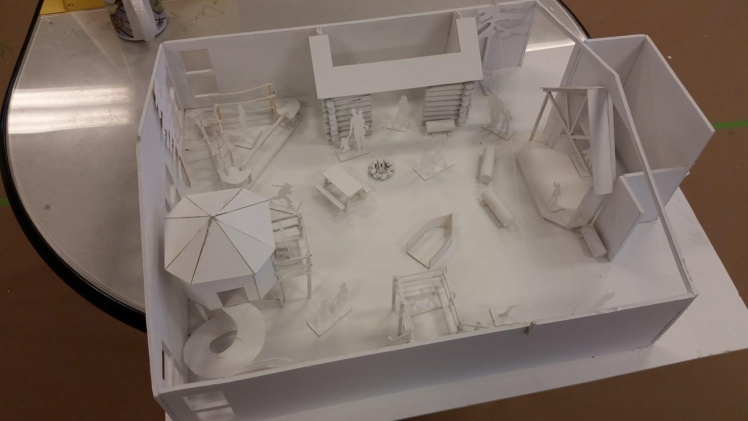 Children's Discovery Museum concept model, Northwoods outdoors exhibit