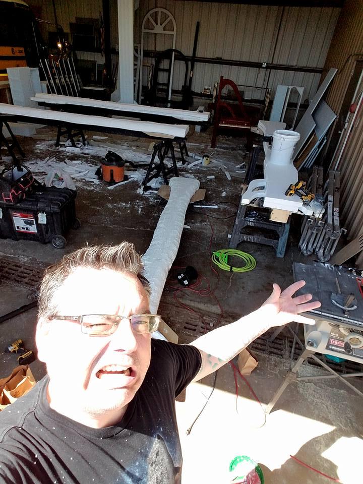 """Carving studio"" for  Eugene Onegin  opera, Northern Lights Music Festival, Aurora, MN"