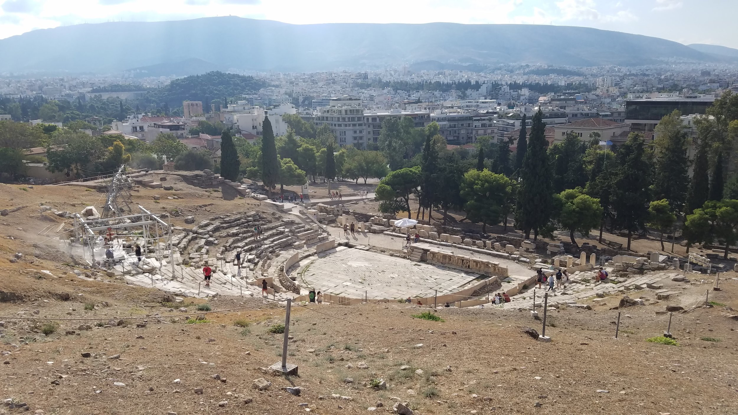 The Theatre of Dionysus still looms on the hill overlooking much of modern Athens.