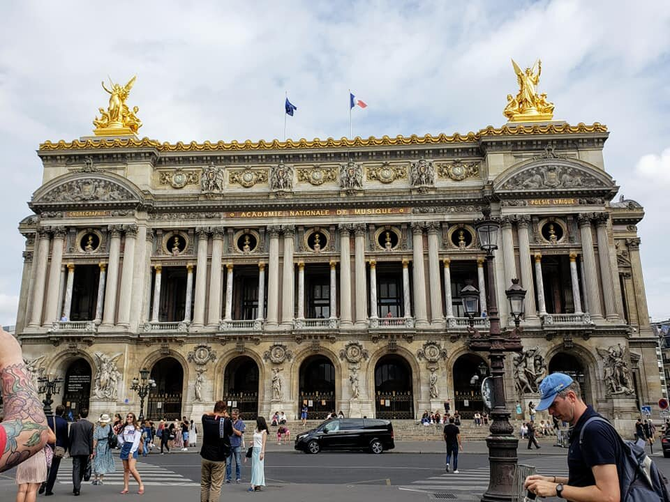 Palais Garnier, home of the Paris Opera/Ballet and the setting for the novel/film/musical THE PHANTOM OF THE OPERA.